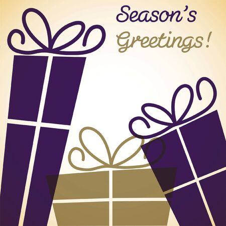 an overlay: Regalo de Navidad de la tarjeta de superposici�n
