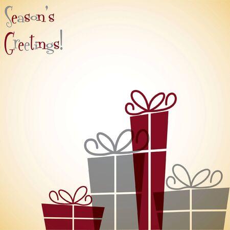 Christmas present overlay card Illustration