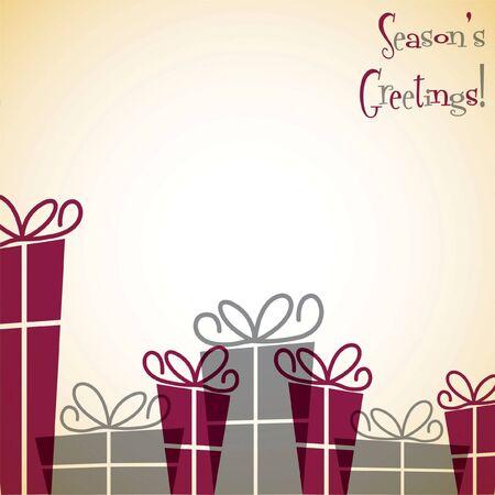 Christmas present overlay card Vector