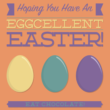 observance: Retro style Easter typographic card in vector format. Illustration