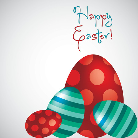 Happy Easter egg card in vector format. Vector