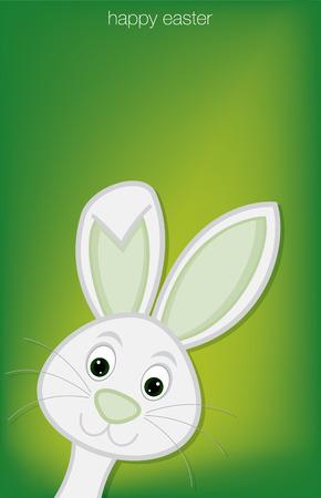 pasqua cristiana: Nascondere carta Easter Bunny in formato vettoriale.