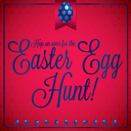 Retro vintage style Easter card in vector format. Vector
