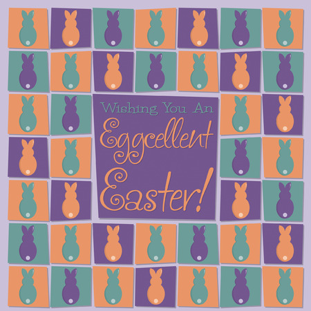 observance: Mosaic funky Easter card in vector format.