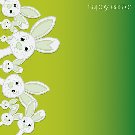 White Easter bunny card in vector format. Vector