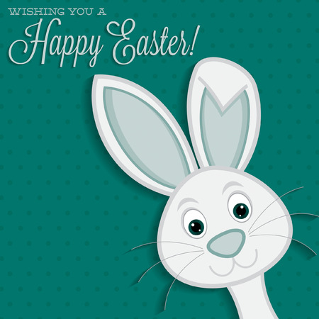 Bright Easter bunny card in vector format.