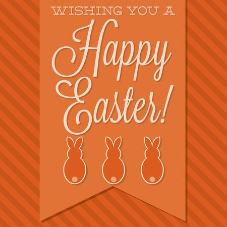 observance: Retro style Happy Easter card in vector format. Illustration