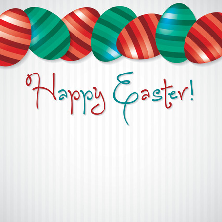 Bright Egg Happy Easter card in vector format. Vector