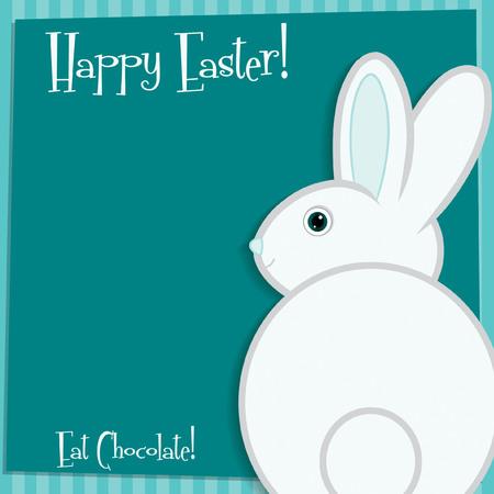 pasqua cristiana: Funky carta coniglietto di Pasqua in formato vettoriale.