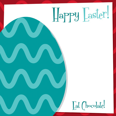 Funky Easter Egg card in vector format. Vector