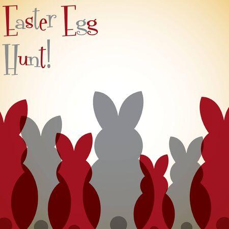 nakładki: Overlay Easter bunny card in vector format.