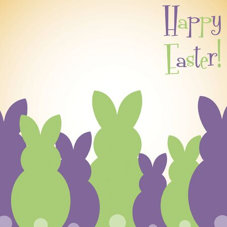 pasqua cristiana: Overlay carta coniglietto di Pasqua in formato vettoriale.