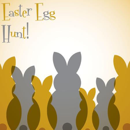 nakładki: Nakładka Wielkanoc bunny karty w formacie wektorowym.