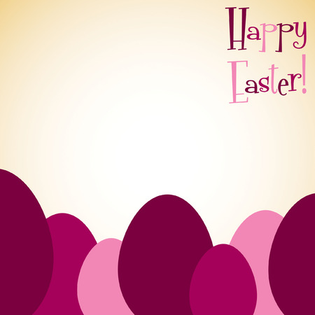 nakładki: Overlay Easter egg card in vector format.