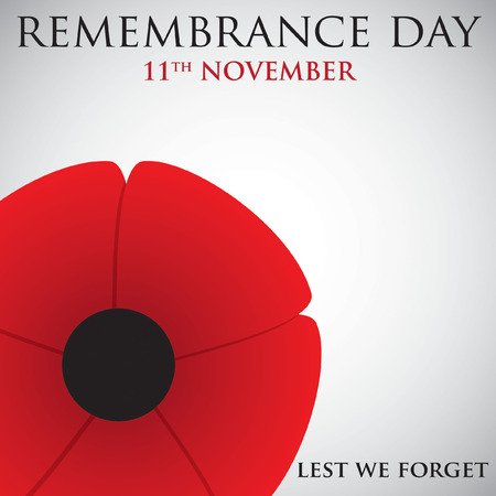 Remembrance Day card in vector format. Иллюстрация