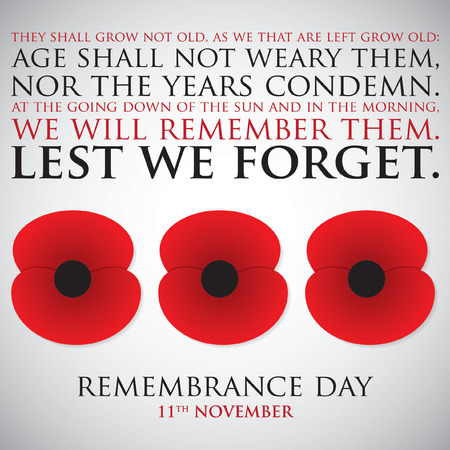 commemorate: Remembrance Day card in vector format. Illustration