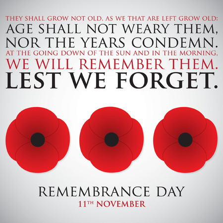 Remembrance Day card in vector format. Ilustrace