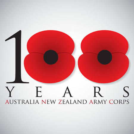 remembrance: ANZAC (Australia New Zealand Army Corps) Day card in vector format.