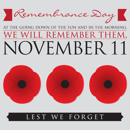 last day: Remembrance Day card in vector format. Illustration