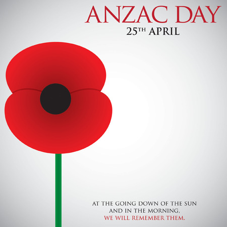 last day: ANZAC (Australia New Zealand Army Corps) Day card in vector format.