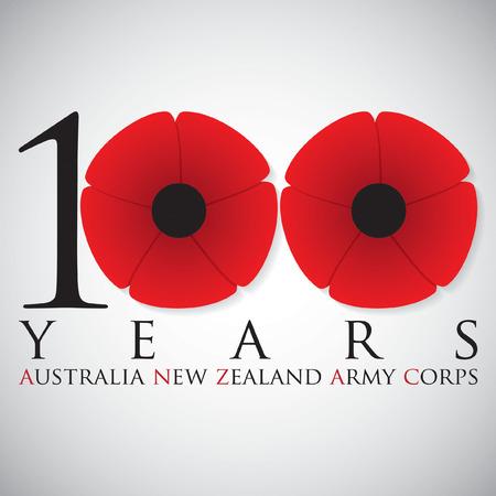 矢量格式的澳新军团日卡片。