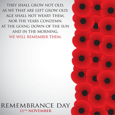 remembrance day: Remembrance Day card in vector format. Illustration