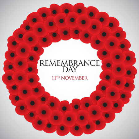 Remembrance Day card in vector format. Vectores