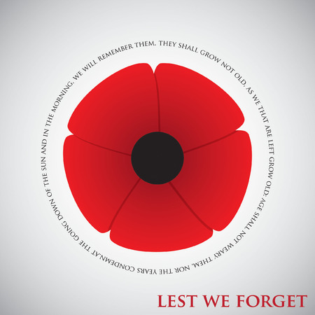 Remembrance Day card in vector format.  イラスト・ベクター素材