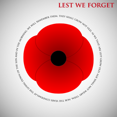 remembrance day: Scheda di giorno della Memoria in formato vettoriale.