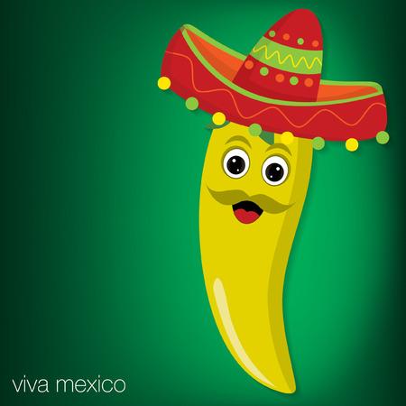 chilli pepper: Chilli pepper cartoon character card in vector format. Illustration