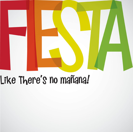 mexican party: Bright typographic Fiesta card in vector format.