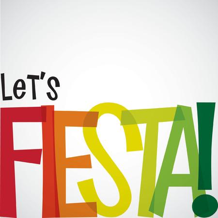 Brillante tarjeta Fiesta tipográfico en formato vectorial. Foto de archivo - 38394264