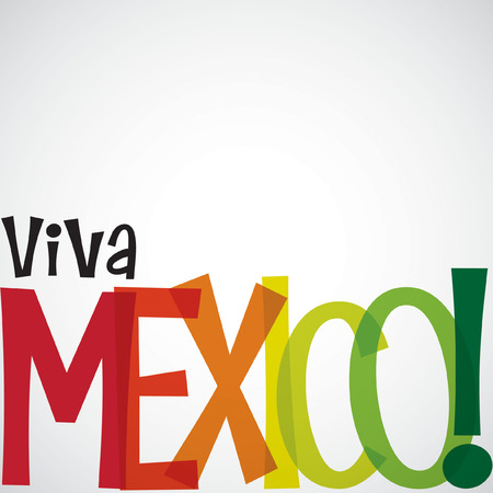 mexico: Bright typographic Viva Mexico card in vector format.