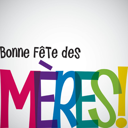 Bright typographic French