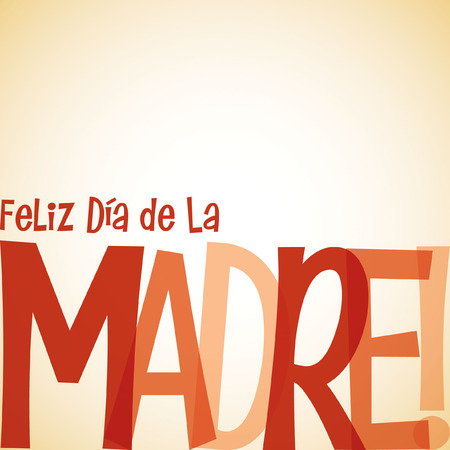 Bright typographic Spanish Happy Mothers Day card in vector format. Vector