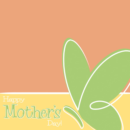 Hand Drawn Happy Mothers Day card Vector