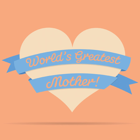 mother s love: Mothers Day heart with ribbon card
