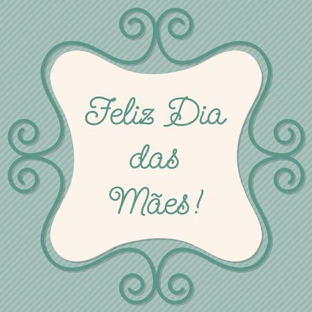 doodle frame: Portuguese doodle frame card