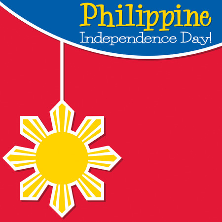 national freedom day: Philippines Independence Day card in vector format.