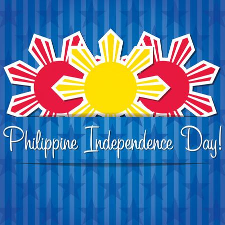 independencia: Tarjeta de Filipinas Día de la Independencia en formato vectorial.