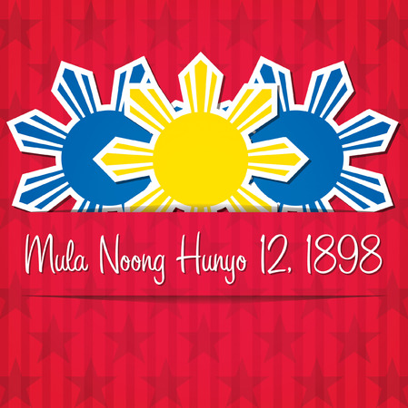 filipino: Philippines Independence Day card in vector format.