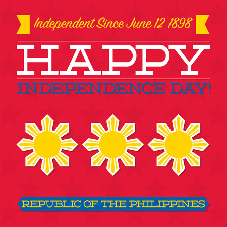 pinoy: Philippines Independence Day card in vector format.