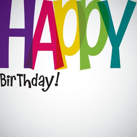 typographic: Typographic Birthday card in vector format. Illustration