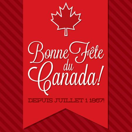 sash: Canada Day sash card in vector format.