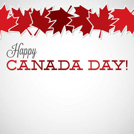 canada: Leaf line Canada Day card in vector format.