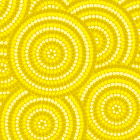 wattle: Abstract Aboriginal dot painting in vector format.