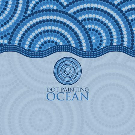 Dot painting invite/ greeting card in vector format. Ilustração