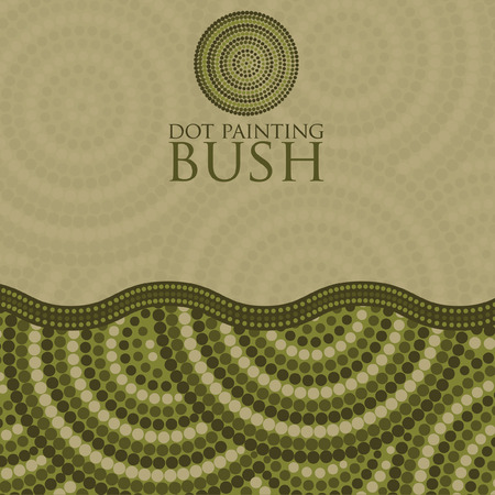 gum tree: Dot painting invite greeting card in vector format. Illustration