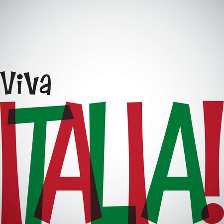 bandera italiana: Tarjeta Día de la República Italiana en formato vectorial.