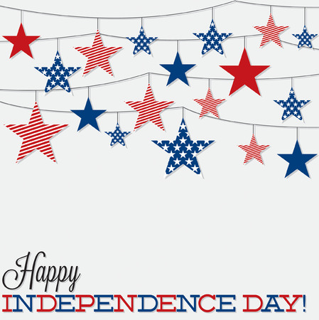 String of stars Independence Day card in vector format. Illustration